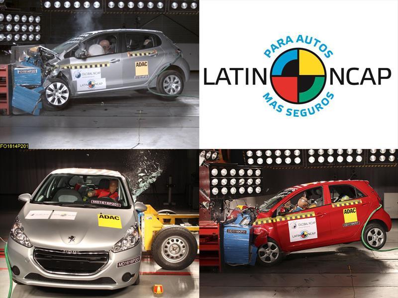 Seguridad: Peugeot 208 y Kia Picanto en Latin NCAP