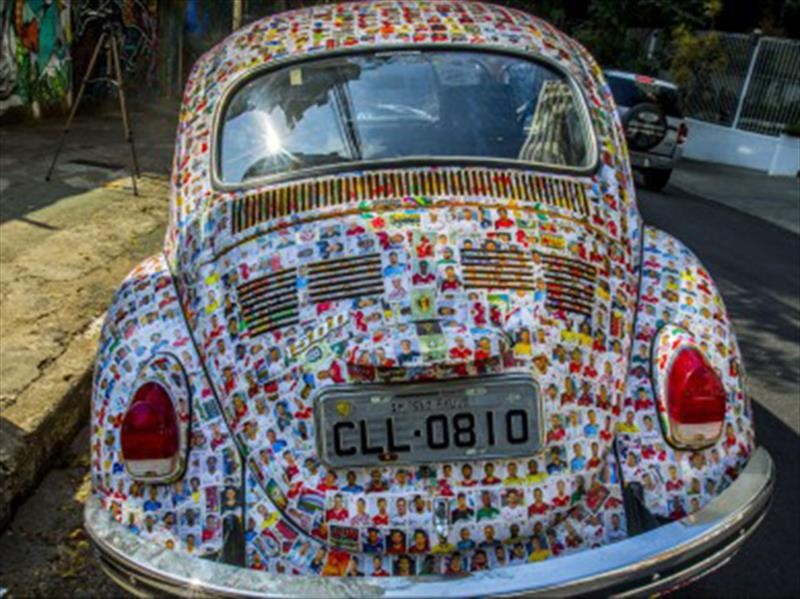 Así es el Volkswagen Escarabajo con estampas del Mundial Rusia 2018