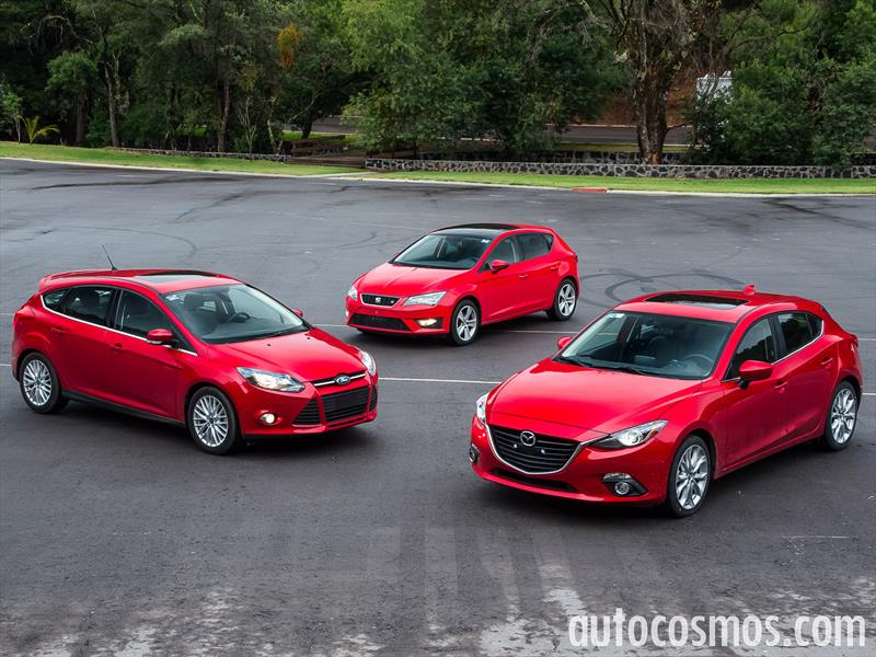 comparativa hatchbacks mazda3 vs seat le n vs ford focus. Black Bedroom Furniture Sets. Home Design Ideas