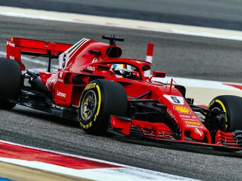 F1  2018 GP de Bahrein: Ferrari en modo fiesta