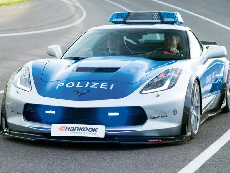 Agarrate: Crean un Chevrolet Corvette patrullero en Alemania