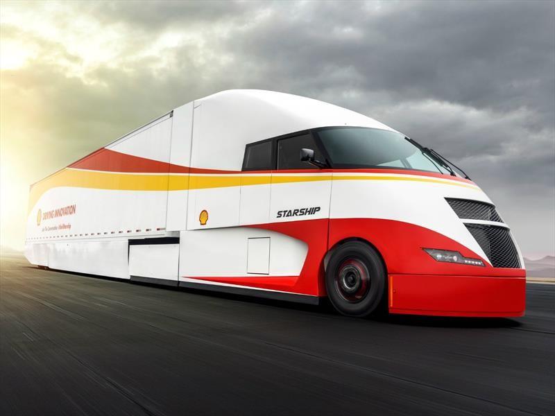 Starship Project, desarrollado por Shell y AirFlow Truck Company, es el camión del futuro