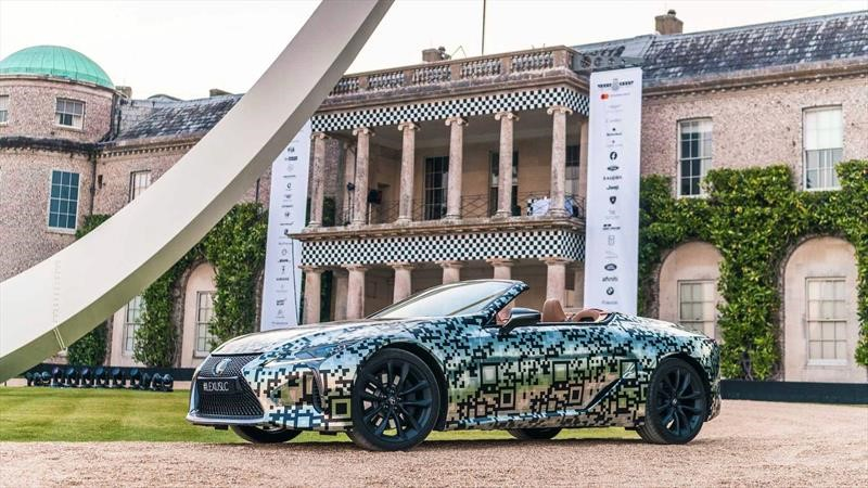 Lexus LC Convertible se confirma en Goodwood 2019