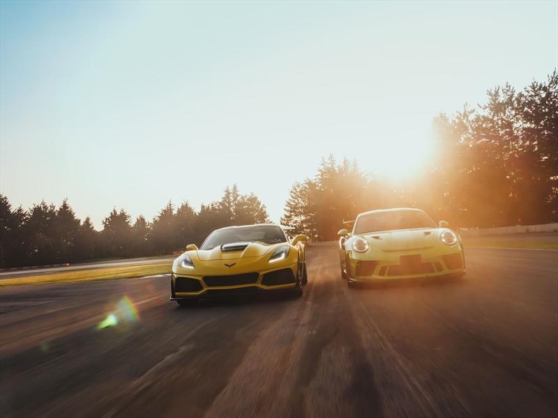 Porsche 911 GT3 RS Vs. Chevrolet Corvette ZR1, dos super deportivos en pista