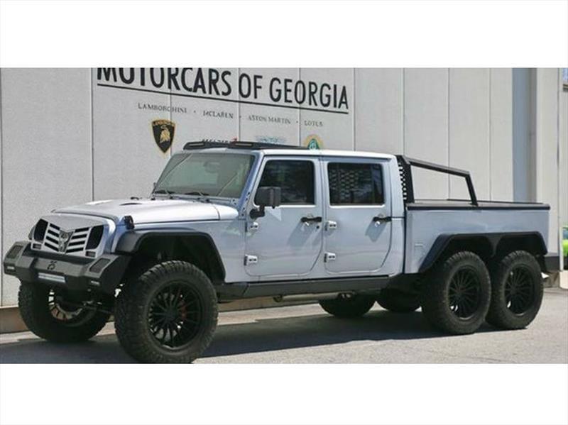 Jeep Wrangler 6x6 por Monster Customs, no hay limites para este monumental SUV
