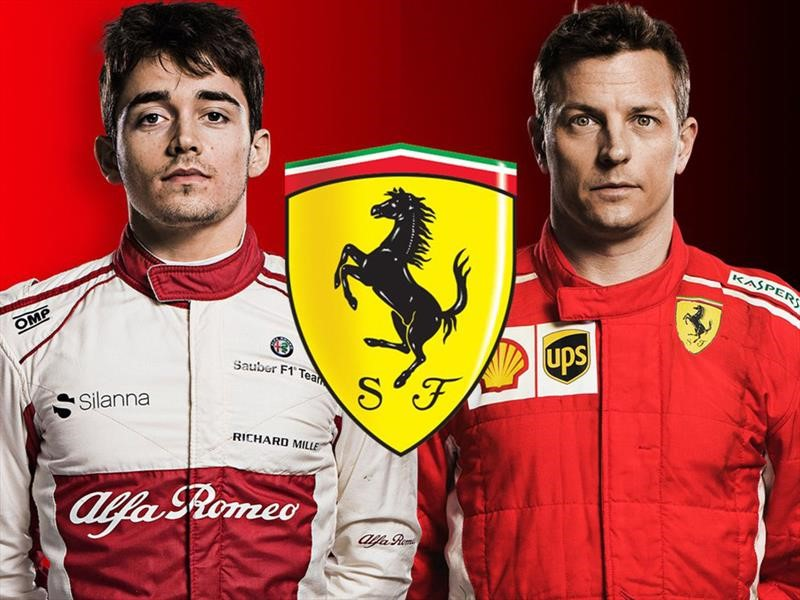 Intercambio italiano, Leclerc se va a Ferrari y Räikkönen a Sauber