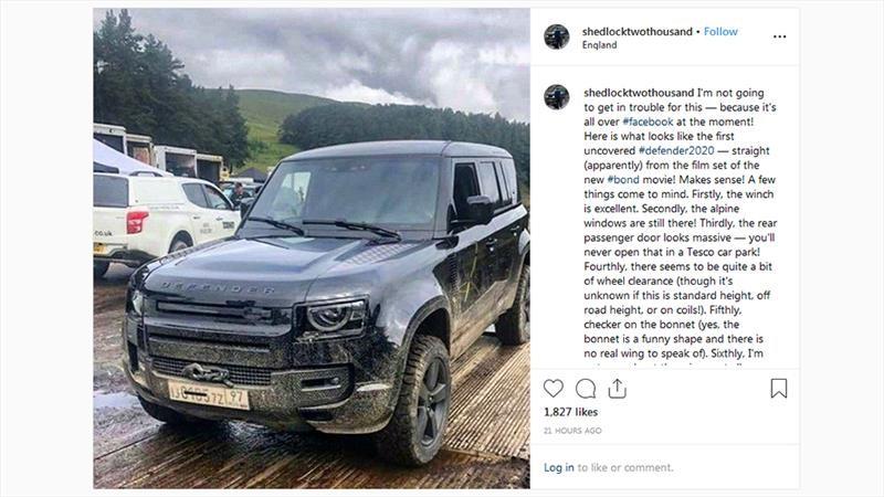 Land Rover Defender 2020 se filtra en la grabación de la nueva película de James Bond