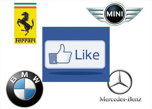 ¿Cuál es la marca de autos más famosa en Facebook?