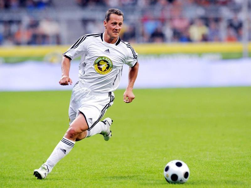 Michael Schumacher, un futbolero más