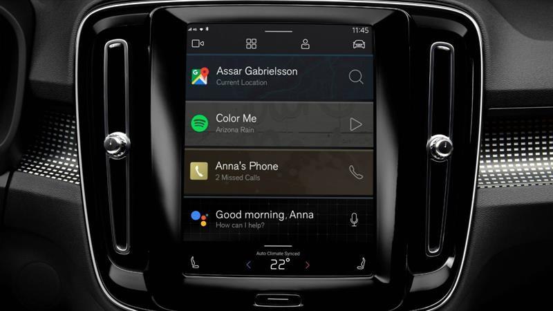 Volvo XC40 Electric equipa un nuevo sistema multimedia con tecnologías de Google integradas
