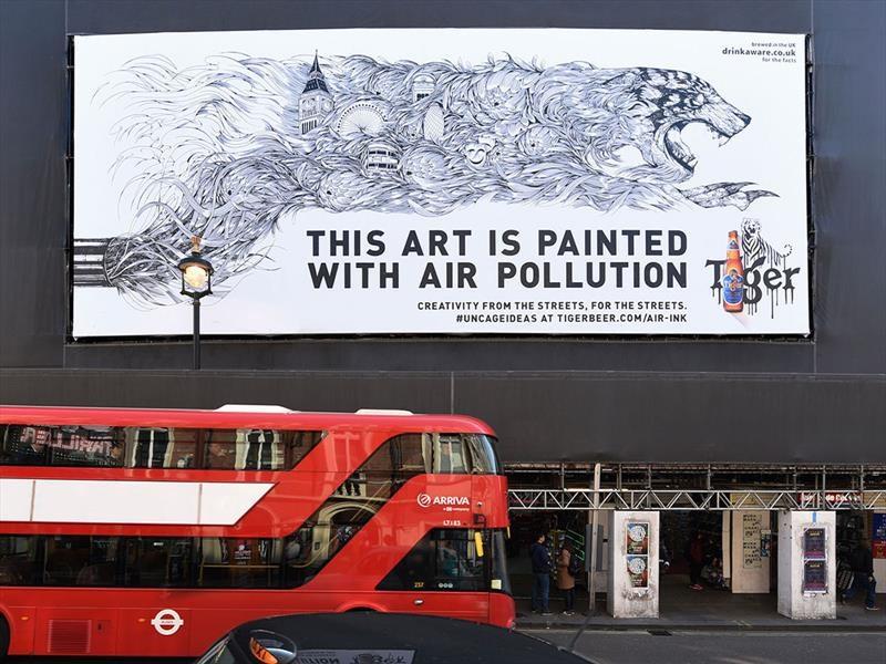 Air-Ink, una tinta hecha con la polución de los escapes