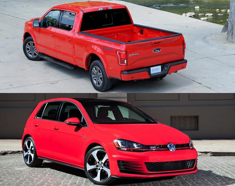 Volkswagen Golf GTI y Ford F150: Auto y Camioneta del Año 2015