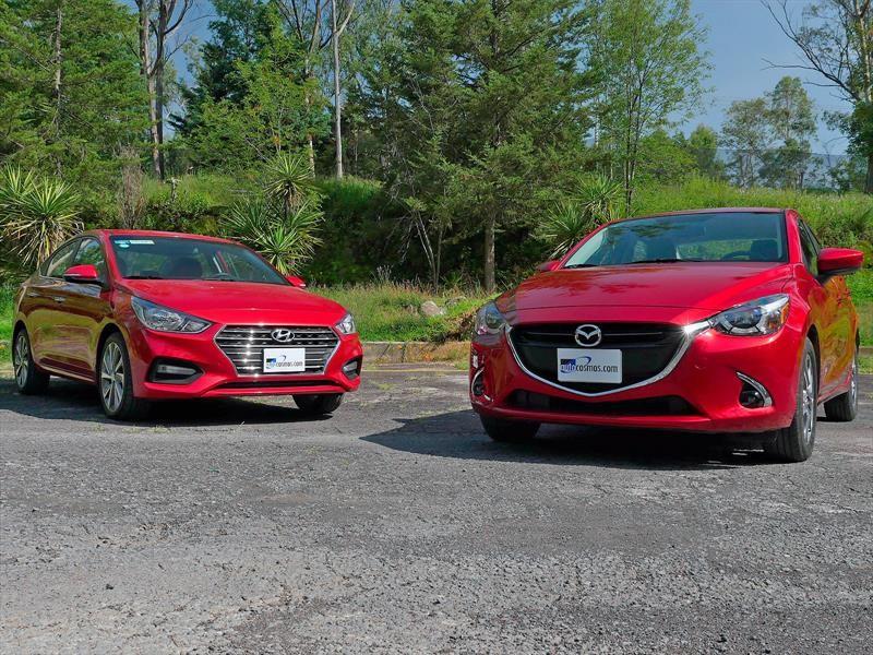 Frente a Frente: Mazda 2 Sedán 2019 vs Hyundai Accent 2018