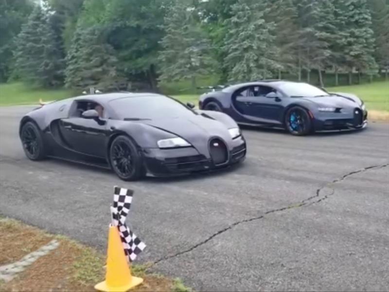 Pique entre un Bugatti Chiron y un Veyron SS, ¿cuál ganó?