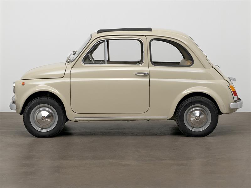 FIAT 500 convertido en una pieza de arte moderno