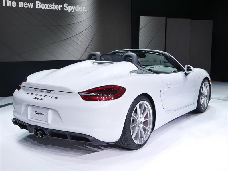 Auto Show De Nueva York 2015 Porsche Boxster Spyder 2016