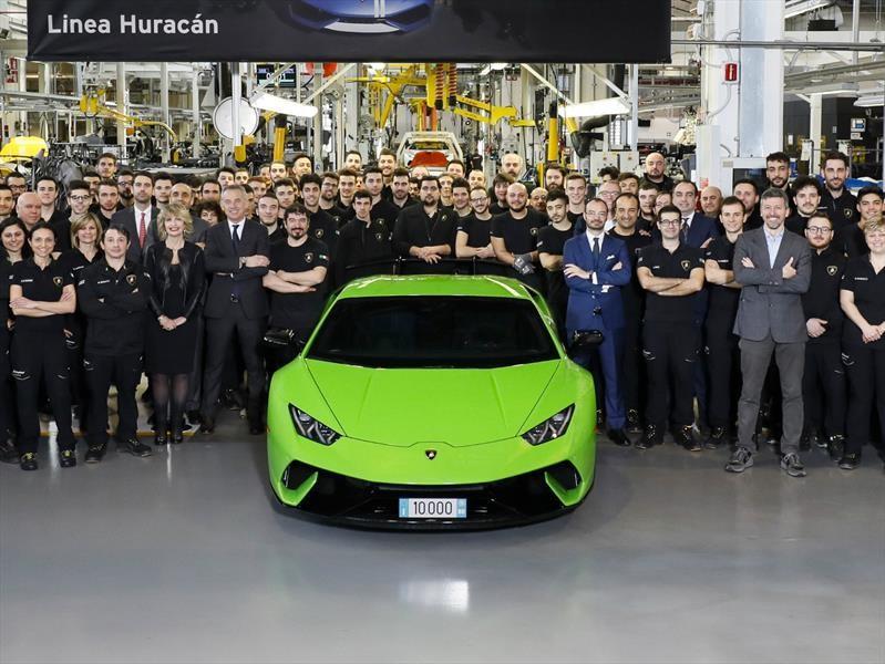 Lamborghini Huracán alcanza las 10,000 unidades fabricadas