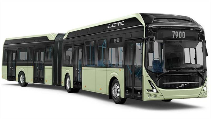 Volvo presenta un bus articulado totalmente eléctrico