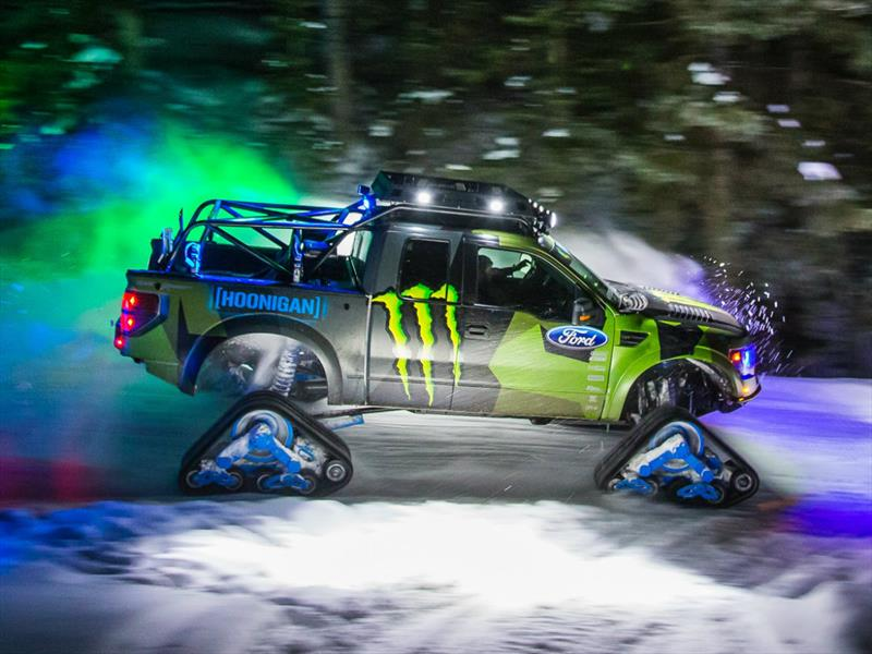 Video Ken Block Y Su Ford Lobo Raptortrax En La Nieve