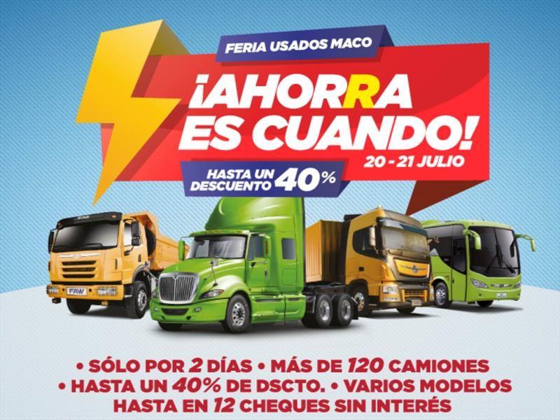 Grupo MACO realiza venta especial de camiones usados
