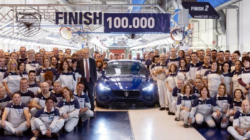 Maserati registra 100,000 unidades producidas del Ghibli
