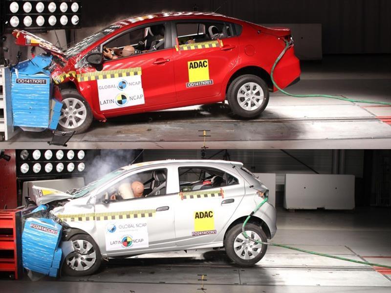 Kia Rio4 y al Chevrolet Onix obtienen 0 estrellas en pruebas de Latin NCAP
