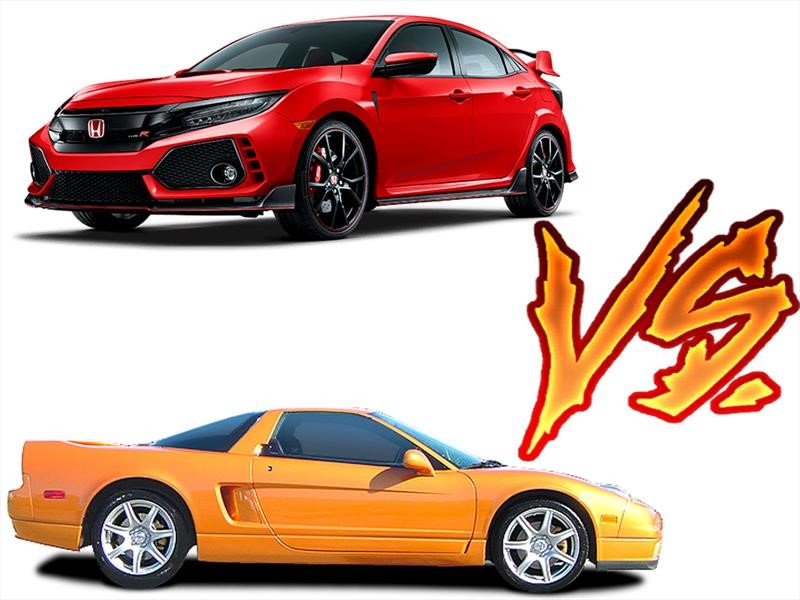 Honda NSX vs Civic Type R ¿cuál es más rápido?