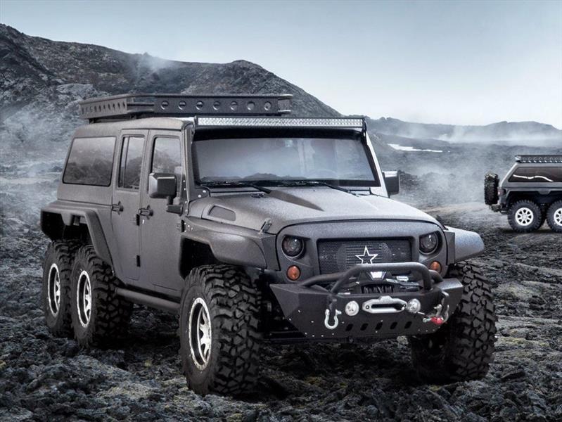 Jeep desarrolla un Wrangler de tres ejes