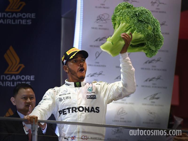 F1: Lewis Hamilton, el vegano más rápido del mundo