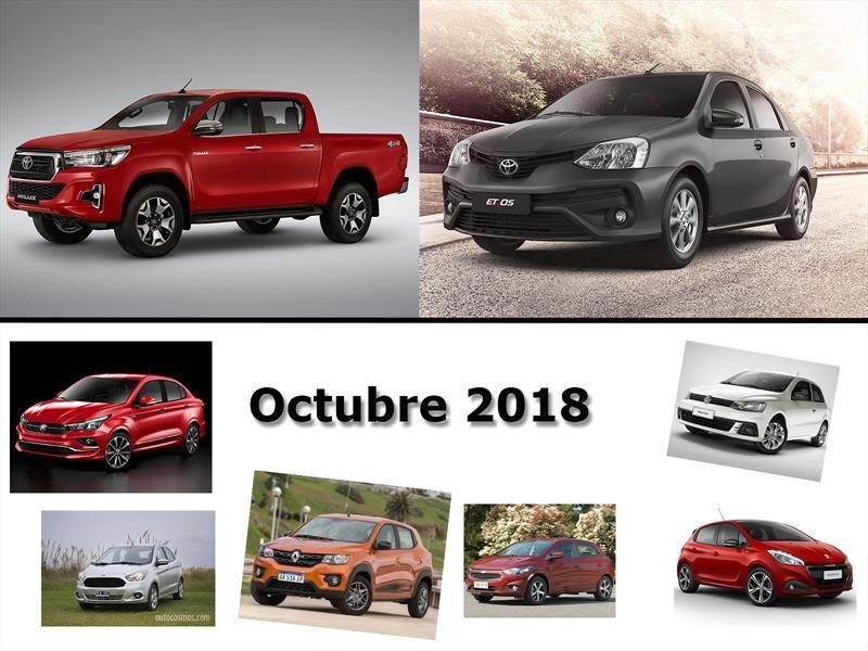 Los 10 autos más vendidos en Argentina en octubre de 2018