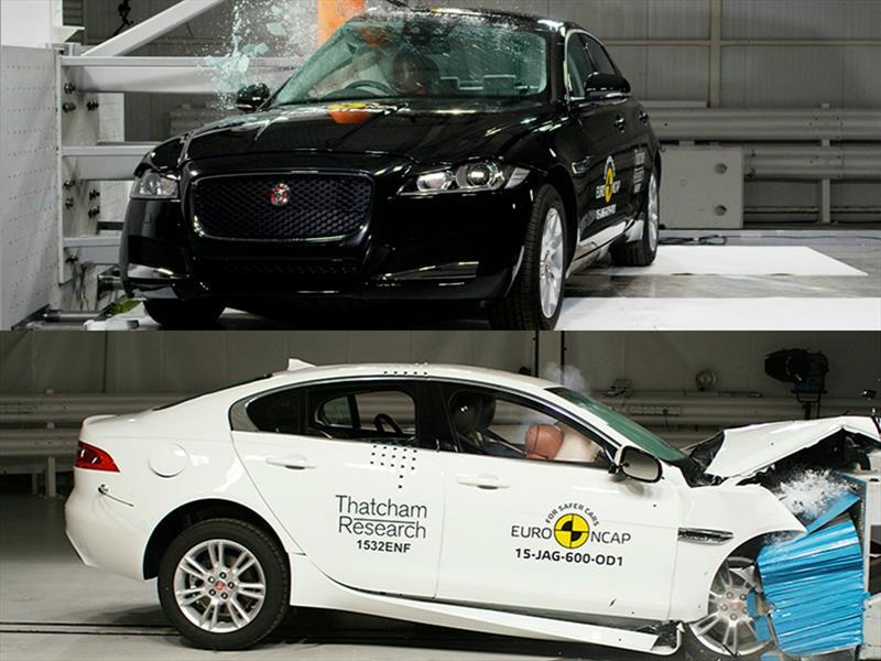 Jaguar XE y XF obtienen cinco estrellas en las pruebas de EuroNCAP