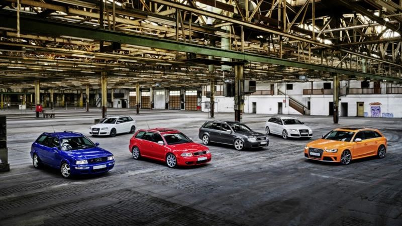 Audi festeja 25 años de desarrollar autos y SUVs deportivos bajo el emblema RS