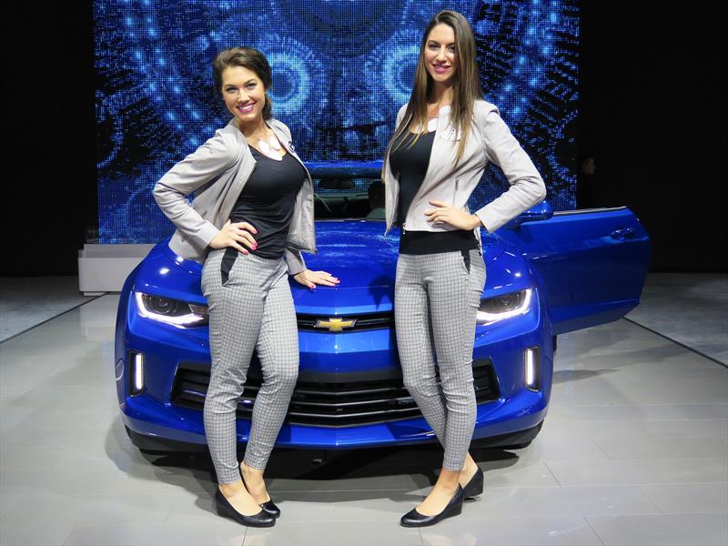 Las chicas del Salón de Detroit 2016