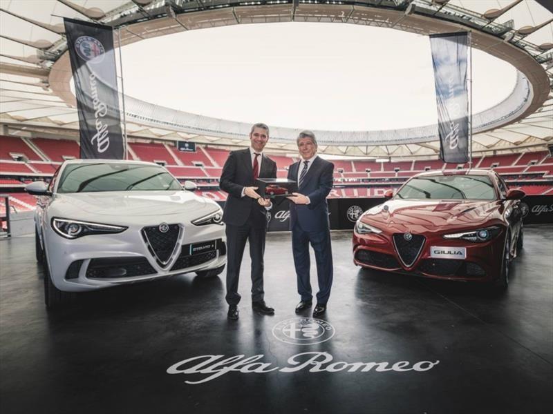 Alfa Romeo Stelvio es el auto oficial del Atlético de Madrid