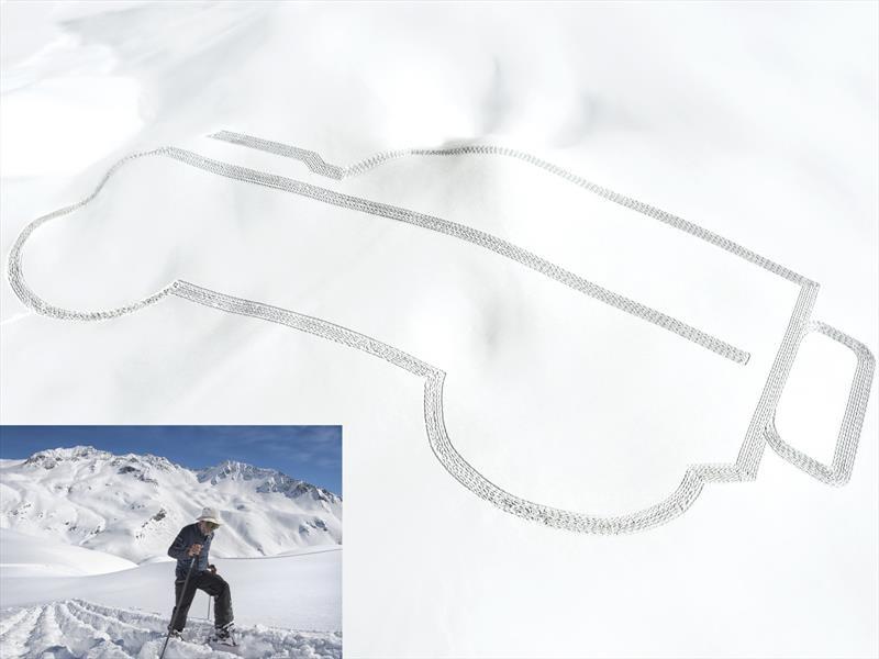 Video: La silueta del Land Rover Defender dibujada en los Alpes franceses