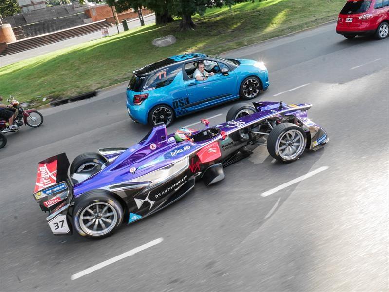 Fórmula E: Pechito López revolucionó la ciudad con su DS Virgin Racing