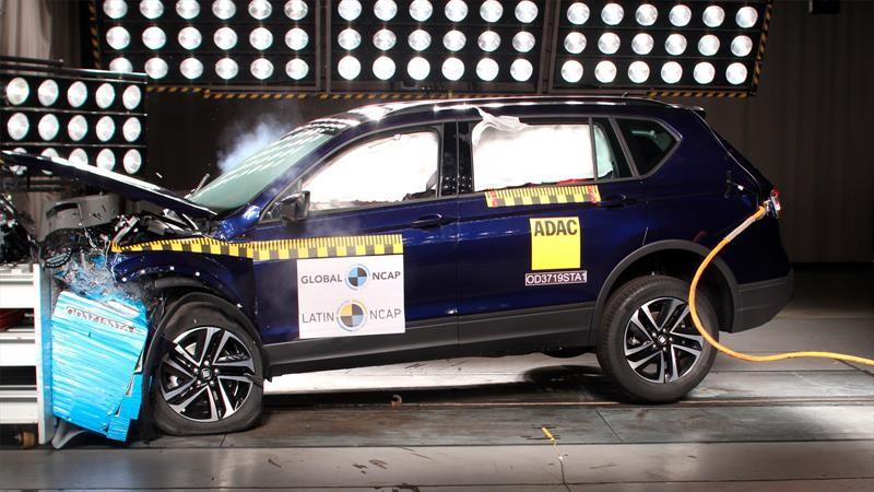 SEAT Tarraco 2019 logra máximo puntaje en pruebas de Latin NCAP