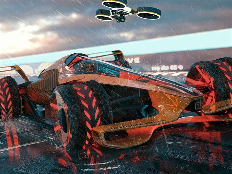Así es como McLaren visualiza las carreras de autos del futuro