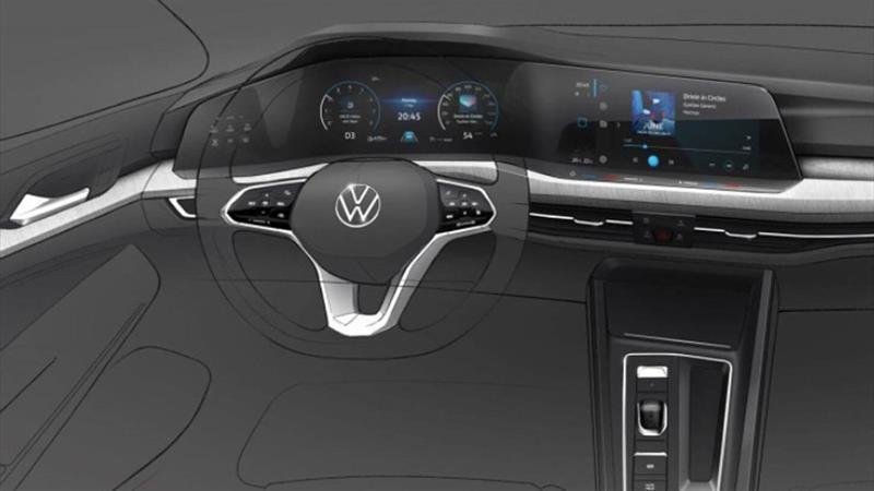 Así es el interior de la nueva generación del Volkswagen Golf -Mk 8-