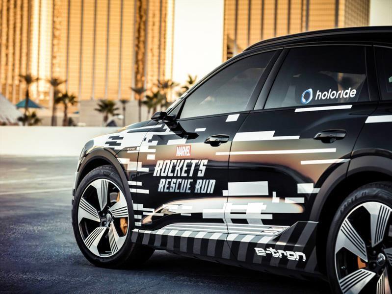 Audi convierte un e-tron en una nave espacial para el CES 2019