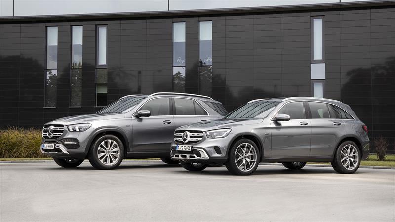 Mercedes-Benz GLC 300 e y GLE 350 de 2020, los híbridos de Frankfurt