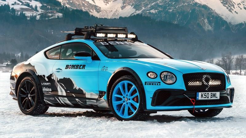 Bentley Ice Race Continental GT es un super auto con más de 600 hp para rodar en nieve