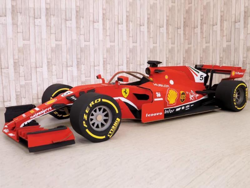 Conozca la historia del Ferrari F1 de cartón