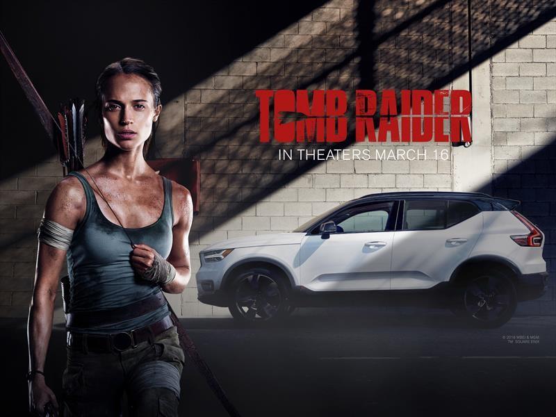 Volvo XC40, el nuevo vehículo de Lara Croft