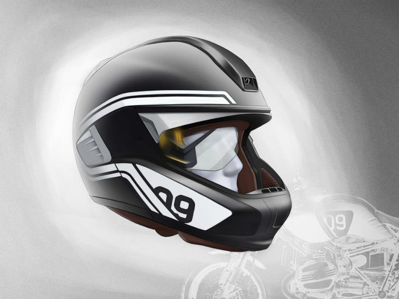 BMW Motorrad devela luz láser para motocicleta y casco con Head-Up Display