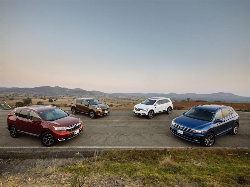 Comparativa: Honda CR-V VS Volkswagen Tiguan VS Renault Koleos VS KIA Sportage