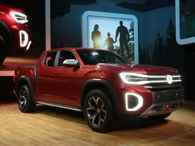 auto show de nueva york 2018 volkswagen atlas tanoak concept es la pickup que s queremos. Black Bedroom Furniture Sets. Home Design Ideas