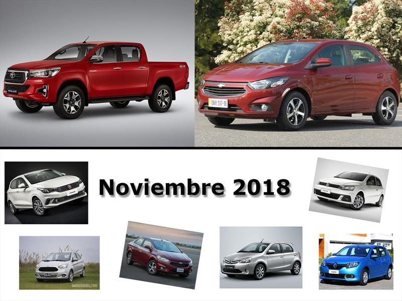 Los 10 autos más vendidos en Argentina en noviembre de 2018