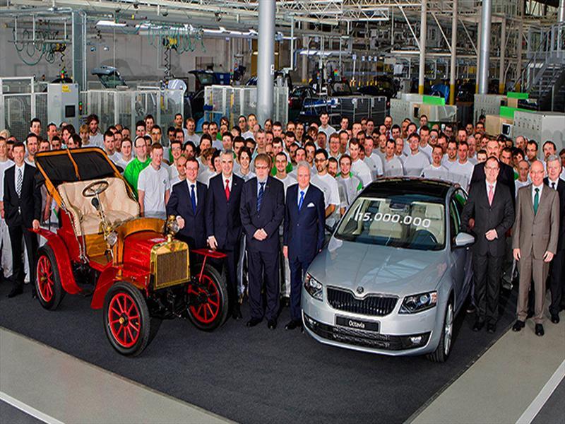 Skoda Produce Vehículo Número 15 Millones