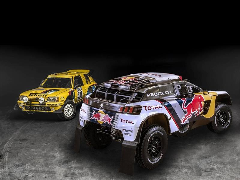 10 an cdotas de peugeot en el rally dakar. Black Bedroom Furniture Sets. Home Design Ideas